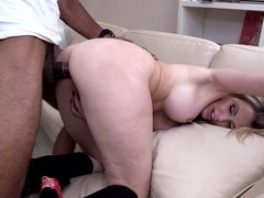 Sexy hot blonde will never forget the pleasure of this hardcore fuck