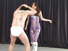 Japanese Female domination Risa Ballbusting