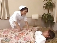 Kinu Misawa breasty nurse licks and rides cum cannon