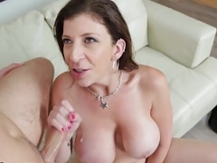 Large Titty Cougar Starved Out to Blow Daughters Boytoy!