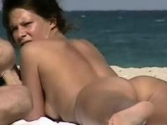 Hot nude dames filmed on a nudist beach