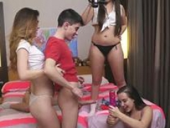 Milk sacks oil anal group intercourse and also mom at college party Deep Throat Challenge