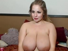 Exceptional babe with sizeable tits