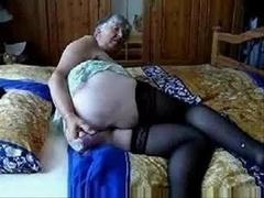 Slut Granny Having Much Fun !