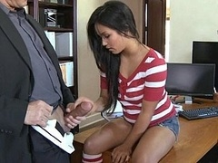 Lana screams as her tight honey pot gets ripped