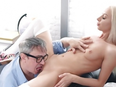 Tricky Aged Teacher - Aged man tastes juicy pussy of a blonde
