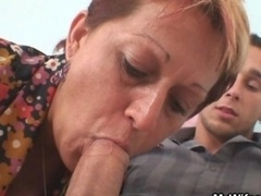 Granny seduces her daughters BF