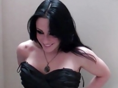 Bitchty Bitch Cleo Blows off Dick in the Dressing Room
