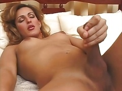 Blonde ladyboy 3Some