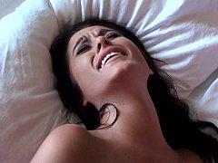 18, 素人, ベッドルーム, 中出し, 彼女, 自家製, オマンコ, ガリガリ