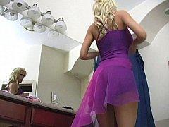 Большие сиськи, Блондинки, Платье
