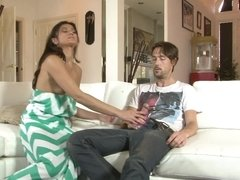 Lucky stud fucks her girlfriend's mother with so much pleasure