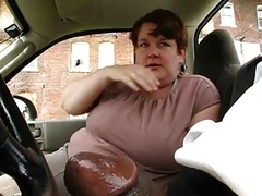 Curvy Mature Gives This Black Dude A Nice Fellation
