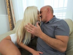 Mature stepdad fucks 18-19 year old stepdaughter when mom is away