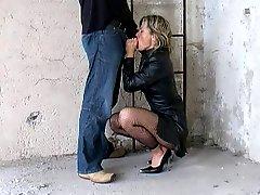 German Fantastci Blow Fragment 2 leather coat heels