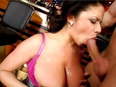 Natural sizeable saggy tits sexy eager mom