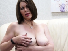 Breasty Sexually available mom playing with herself
