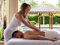 Blonde, Branlette thaïlandaise, Massage, Adolescente