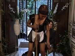 Black French maid gets it up the tooshie