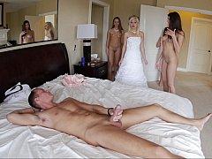 Красивые, Спальня, Невеста, Групповуха, Группа, Вечеринка, Свадьба
