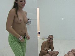 浴室, 大学生, オージー, 小柄, 現実, ガリガリ, 生徒, ティーン