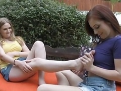 Lesby Foot Licking Fun
