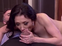 Naked and hairy Vicki Chase fucked by a big cock man