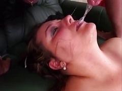 Tir de sperme, Gorge profonde