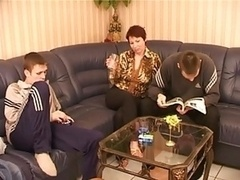Russian mom and a couple of lucky bastards
