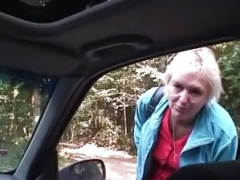 He picks up and additionally fucks old bitch outdoors