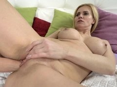Pretty babes penetrate each other's twat with fist
