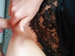 Close-up of homemade making love pussy