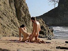 Culo, Playa, Belleza, Estilo perrito, Al aire libre, Montar