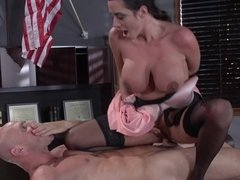 Sexy tootsie Ariella Ferrera and strict boss Johnny Sins fuck
