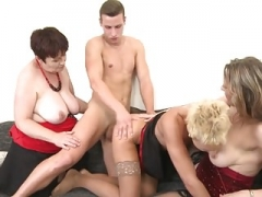 Taboo real hardcore orgy with mothers & granny