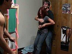Studentin, Hochschule, Paar, Süss, Freundin, Hardcore, Rotschopf, Jungendliche (18+)