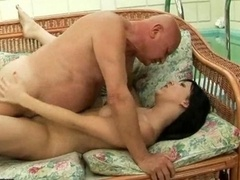18-19 y.o. has hot sex with grandpa