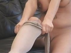 Pantyhose Footjob
