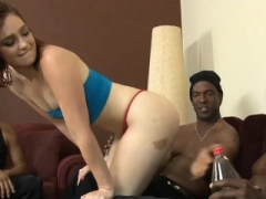 Excited babe twat and asshole reamed hard by black cocks