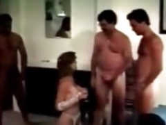 Gang-fuck Archive Vintage orgy party MILF and 5 guys