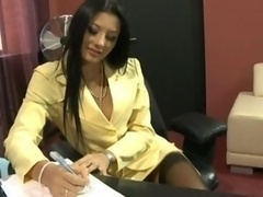 Sofia Gucci bang in office