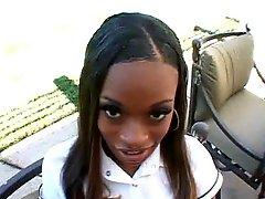 Ebony sticky creampie