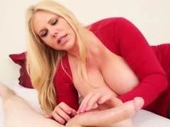 Top heavy sweetie Soccer mom Karen Fisher treats you to a cock