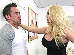 Américain, Blonde, Sucer une bite, Queue, Mère que j'aimerais baiser, Bureau, Actrice du porno, Professeur