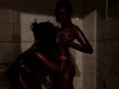 Kenyan babes take it to the shower
