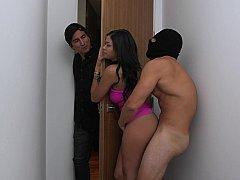 Cheating wife pleasured