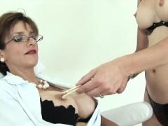 Unfaithful english old female sonia flaunts her large titty