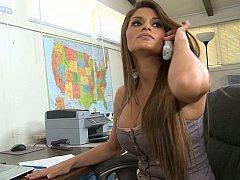 Incroyable, Américain, Gros seins, Brunette brune, Mignonne, Hard, Mère que j'aimerais baiser, Bureau