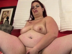 Ginger Adult bbw babe toys her pussy with dildo