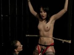 Dominated eurobabe punished by femdom goddess